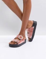 SixtySeven Flat Slide Buckle Sandal - Beige