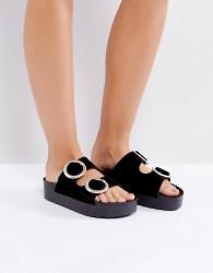 SixtySeven Flatform Slide Sandal - Black