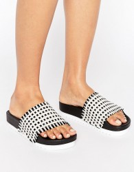 SixtySeven Multi Raffia Slide Flat Sandals - Multi