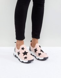 SixtySeven Pink Star Slip on Trainers - Pink