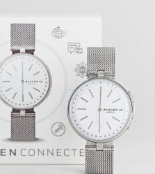 Skagen Connected SKT1400 Signatur Mesh Hybrid Smart Watch In Silver - Silver