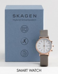 Skagen Connected SKT1406 Hald Satin Hybrid Smart Watch In Grey 34mm - Grey