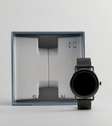 Skagen Connected SKT5001 Falster Leather Display Smart Watch In Black - Black