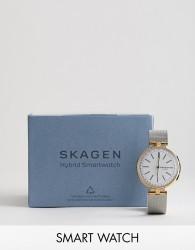 Skagen SKT1413 Connected Signatur T-Bar Hybrid Smart Watch 36mm - Silver