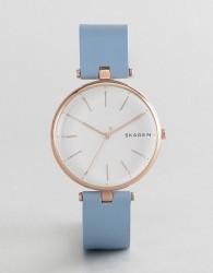 Skagen SKW2711 Signatur Leather Watch - Blue