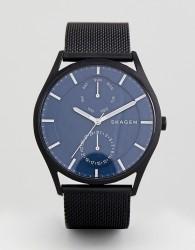 Skagen SKW6450 Holst Chornograph Mesh Watch In Black 40mm - Black