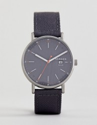 Skagen SKW6452 Signatur Solar Recycled Canvas Watch In Grey 40mm - Grey