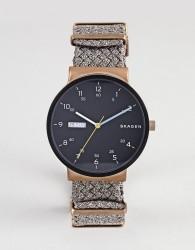 Skagen SKW6453 Ancher Watch with Canvas Strap - Brown