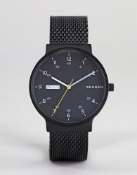 Skagen SKW6456 Ancher Watch with Mesh Strap - Black