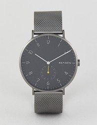 Skagen SKW6470 Aaren Mesh Watch 40mm - Grey