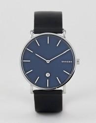 Skagen SKW6471 Hagen Slim Leather Watch 40mm - Black
