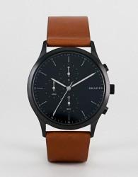 Skagen SKW6477 Jorn leather watch 41mm - Tan
