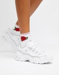 Skechers D'Lites white trainers - White