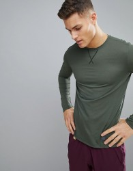 Skins Training Avatar Long Sleeve Top In Khaki SP00501223009 - Green
