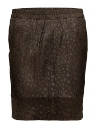 Skirt In Suede W. Leopard Print
