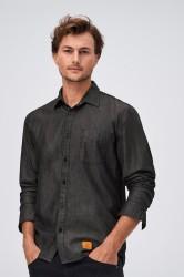 Skjorte med denimlook