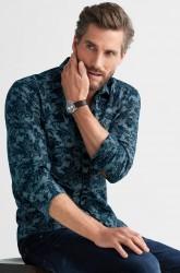 Skjorte med printet mønster