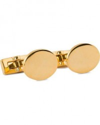 Skultuna Cuff Links Black Tie Collection Oval Gold men One size Guld