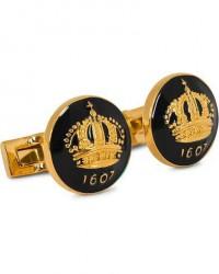 Skultuna Cuff Links The Crown Gold/Baroque Black men One size Sort