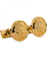 Skultuna Cuff Links The Crown Gold/Glossy Gold men One size Guld
