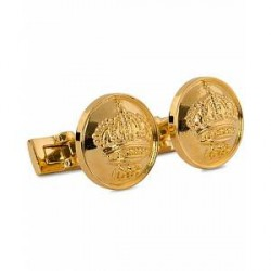 Skultuna Cuff Links The Crown Gold/Glossy Gold