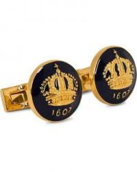 Skultuna Cuff Links The Crown Gold/Royal Blue men One size Blå