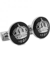 Skultuna Cuff Links The Crown Silver/Baroque Black men One size Sort
