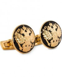 Skultuna Cuff Links The Double Eagle/Baroque men One size Guld