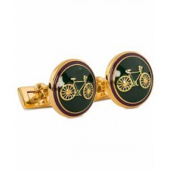 Skultuna Cuff Links Themocracy Gold/Racing Green