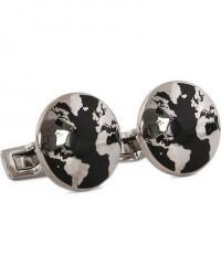 Skultuna Cuff Links World Traveler Black