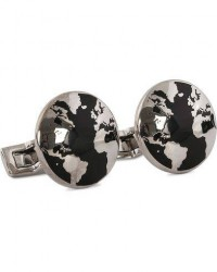Skultuna Cuff Links World Traveler Black men One size Sort
