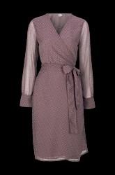 Slå om-kjole med strukturmønster