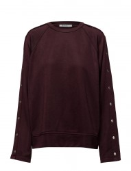 Sleek French Terry Crewneck Sweatshirt W/ Snaps