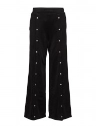 Sleek French Terry Wide Leg Pull On Pant W/ Snaps