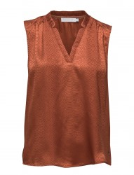 Sleeveless Top In Snake Jacquard
