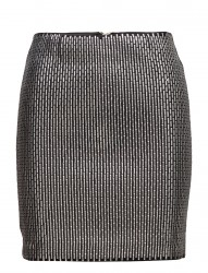 Slim Fit Mini Skirt Metallic Embellishment