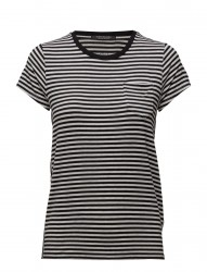 Slim Fit Round Neck Tee With Chest Pocket
