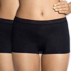 Sloggi 2-pak Sensual Fresh Shorts - Black - 46 * Kampagne *