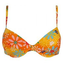 Sloggi Tonga Push Up Bikini - Orange patterned - A 38 * Kampagne *