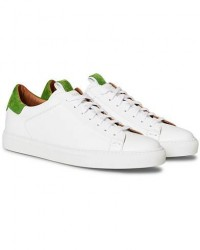 Slowear Officina Leather Sneaker White/Green men UK8 - EU42 Hvid