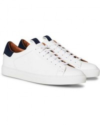 Slowear Officina Leather Sneaker White/Navy men UK9 - EU43 Hvid