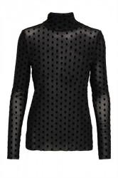 Soaked In Luxury - Bluse - Prickle LS WI - Black