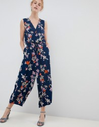 Soaked In Luxury Floral Wrap Occasion Jumpsuit - Multi