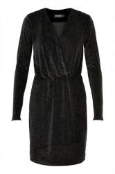 Soaked In Luxury - Kjole - Etta Dress - Black With Gold Glitter