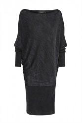 Soaked In Luxury - Kjole - Maiken Knit Dress - Dress Blue With Lurex