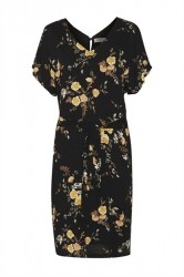 Soaked In Luxury - Kjole - Mari Dress - Black with roses