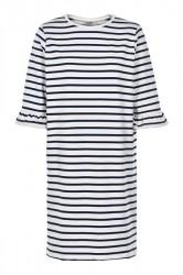 Soaked In Luxury - Kjole - Vestia Dress - Blue With White
