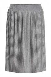 Soaked In Luxury - Nederdel - Corey Plisse Skirt - Medium Grey Melange