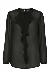 Soaked In Luxury - Skjorte - Disa Top LS - Black