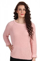 Soaked In Luxury - Strik - Riviera Pullover - Silver Pink